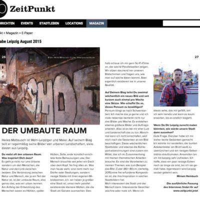 Der umbaute Raum – Interview mit dem Zeitpunkt-Magazin