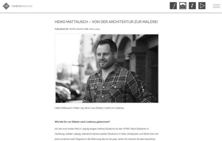 Von der Architektur zur Malerei – Interview mit  Viertelrausch