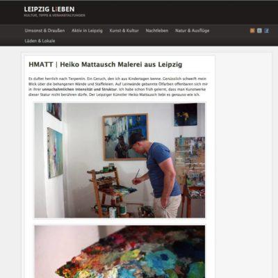 Malerei aus Leipzig – Artikel auf LEIPZIG LiEBEN