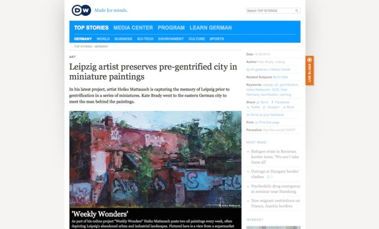 Leipzig artist preserves pre-gentrified city in miniature paintings