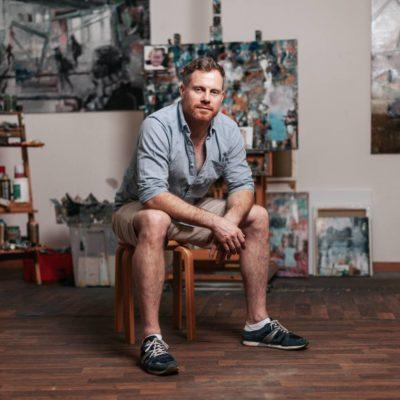 Atelierbesuch von Fotograf Ingo Schiller (Berlin/Passau) in Leipzig bei Heiko Mattausch